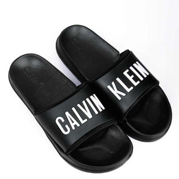 250e0615c1d Calvin Klein logo men s slide sandals